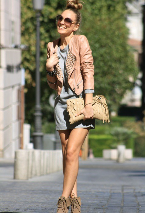 beg, boots, dress, fashion, hair, heels, legs, street, style, summer, sun