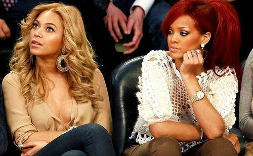beyonce, red hair, rihanna, riri