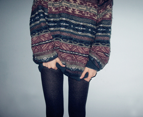 big sweater, legging, pretty, skinny legs, vintage