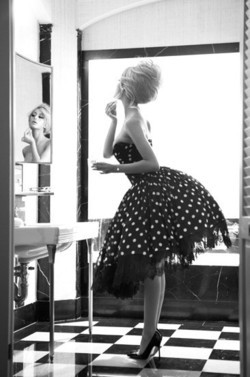 black & white, checkers, classic, classy, dress, fashion, feminine, polka dots