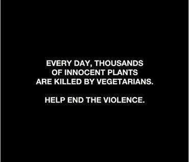 black, black and white, funny, text, typography, vegetarian, violence, white