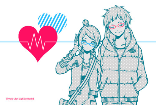 black, blue, brown, couple, cry, cute, fondo, girl, green, hair, kawaii, lentes, pink, random, red, simple, smile, white, yellow