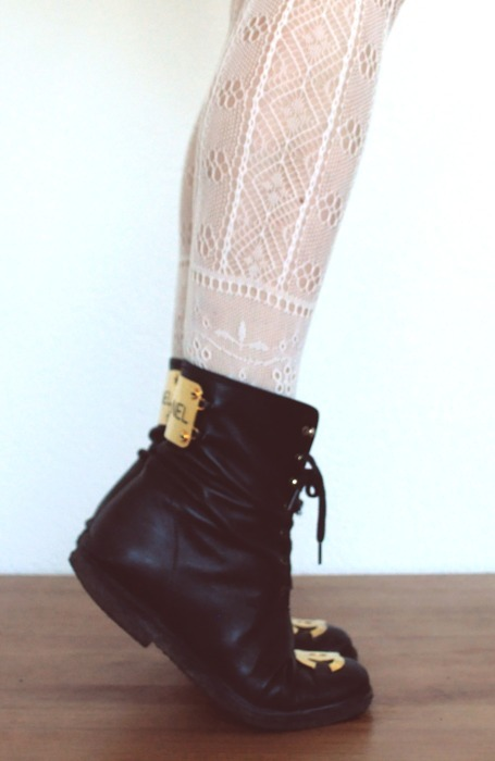 black, boots, chanel, fashion, gold