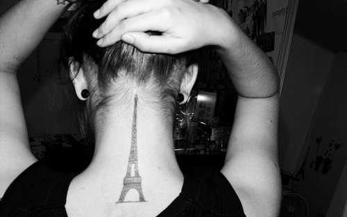 black, cool, eiffel, la tour eiffel, paris, rock, tat, tats, tatt, tattoo, tatts