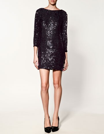 Black Party Dress on Black  Dress  Pailletten  Partydress  Zara Sequin Dress   Inspiring