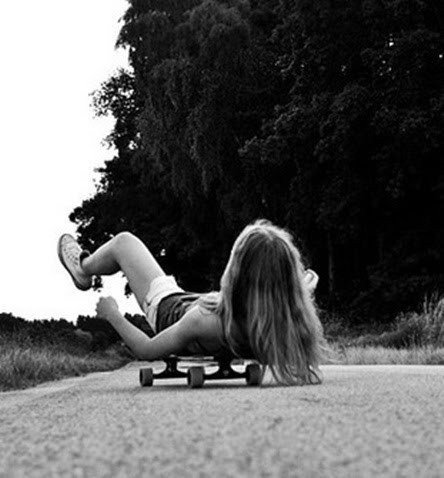 blond, cool, freedom, fun, model, paisaje, road, skate, trees, view