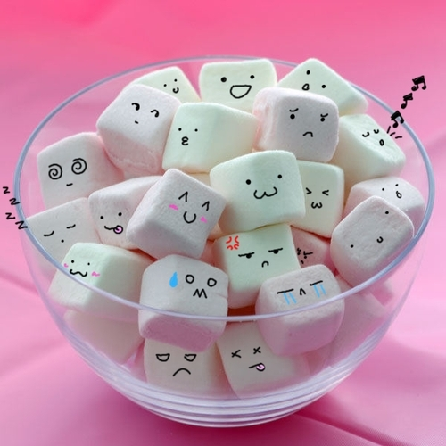 cute marshmallow faces how to make
