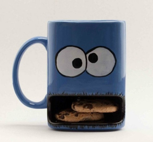 blue, cookie, cookie monster, cookie monster mug, cookies, cup cookies, dunk mug, mug, sesame street, want