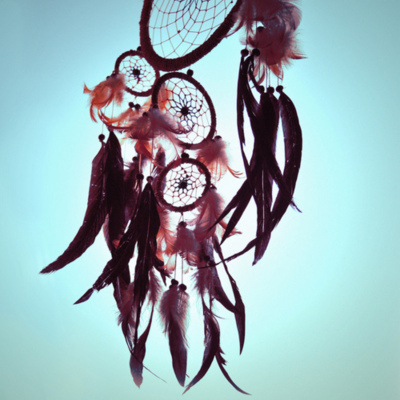 blue, dreamcatcher, feathers, pretty, sky