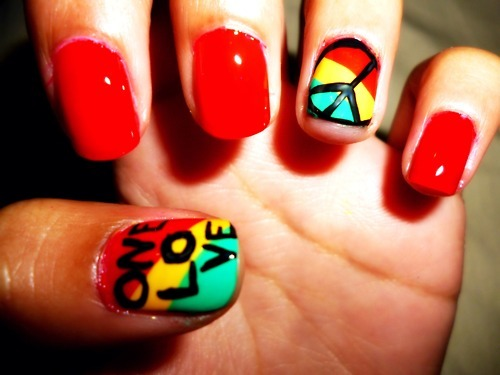bob marley nails, china glaze, dope, nail, nail art