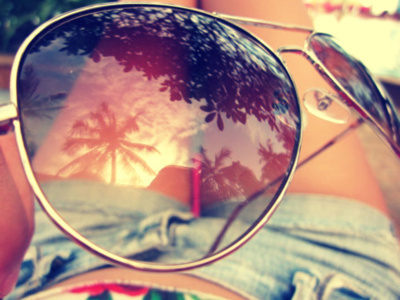 body, glasses, palm trees, summer