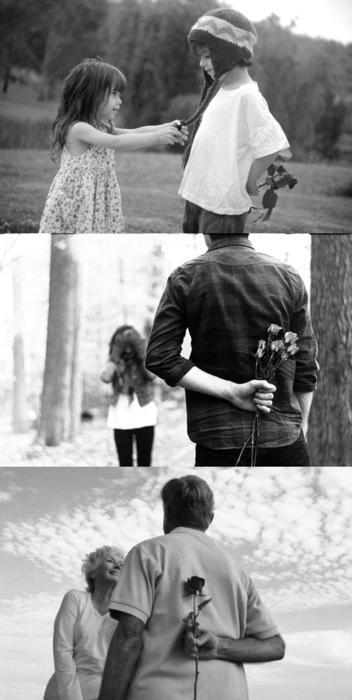 boy, children, couple, cute, flower, girl, heart, love, nice, old couple, young couple