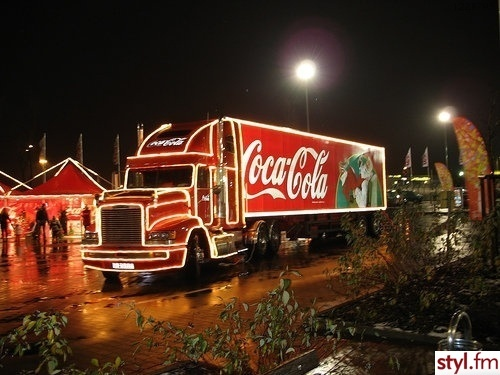 car, christams coca cola, christmas, coca cola, coke, lights, night, winter, xmas