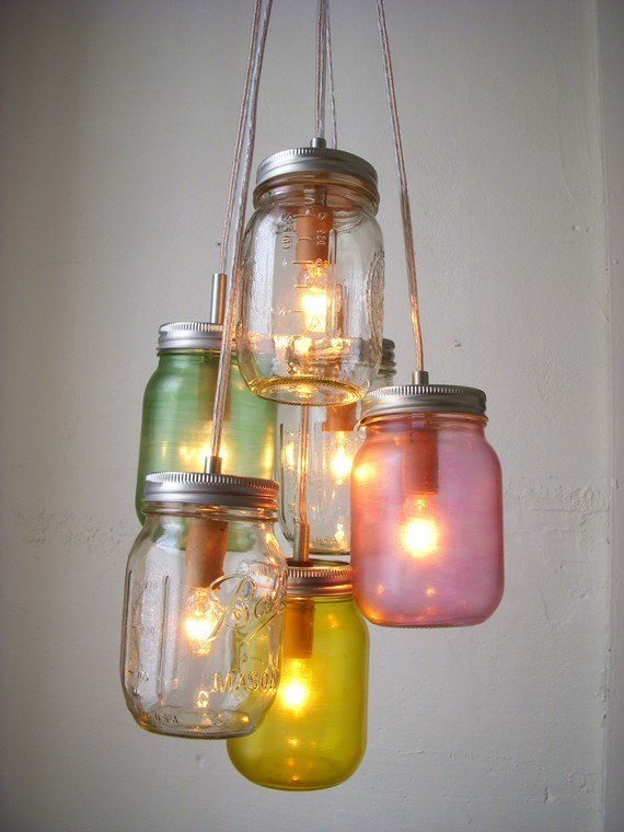 chandelier, fashion, household, housekeeping, lights, mason jar