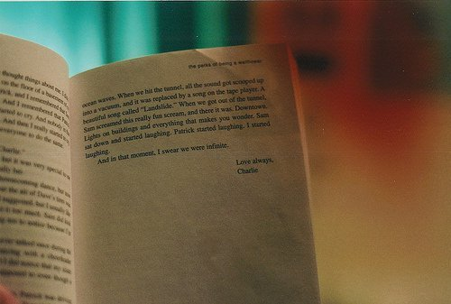 charlie, infinite, love, photography, text, the perks of being a wallflower