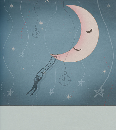 child, childhood, dreams, goodnight moon, illustration, man, moon, pretty, stories