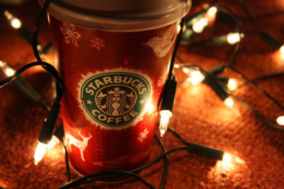 christmas, cute, fashion, garland, girl, holiday, new year, popular, starbucks, style, winter