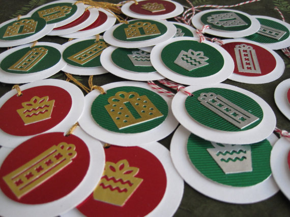 christmas, etsy, gift tags, handmade, holiday