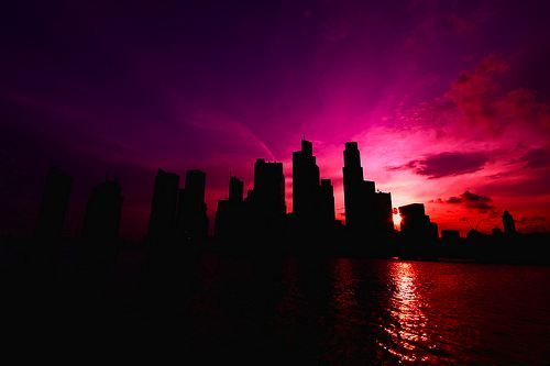 city, light, photography, silhouette, skyline, sunset