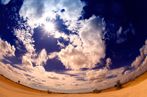 clouds, fish eye, landscapes, skay