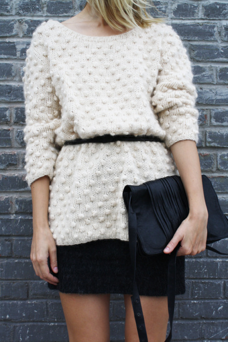 clutch, cozy, fashion, girl, model, sweater