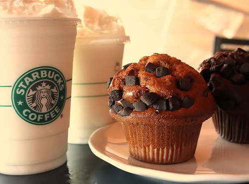 cofee, coffee, muffin, starbucks