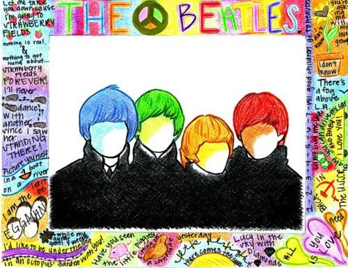 colourful, drawing, justin bieber, peace, the beatles