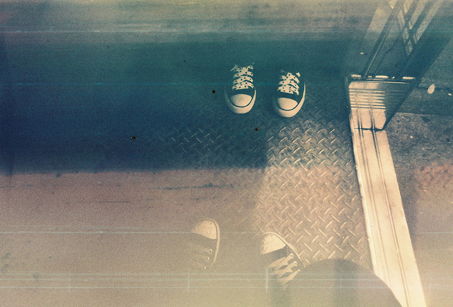 converse, lomography, mirror, photography, shoes