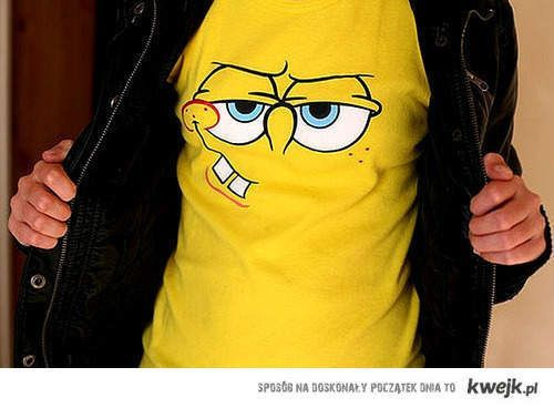 cool, cute, funny, spongebob, tshirt