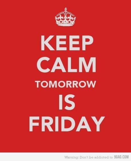 cool, fashion, friday, keep calm, party, red, tomorrow