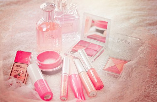 cor-de-rosa, girly, giulialuisa, make, make-up, maquiagem, perfume, pink, rosa