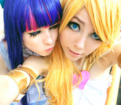 cosplay, females, panty and stocking