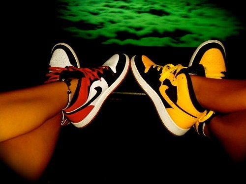 couple, cute, nike, shoes, swag