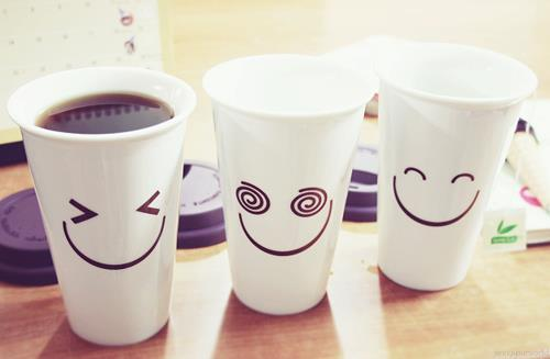 how to draw a cute coffee cup with a smile