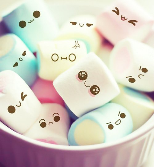 cute, expressions, face, kawaii, marshmellow