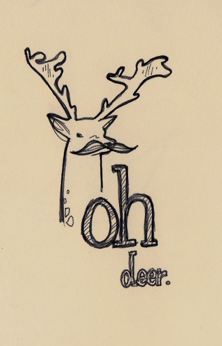 deer, drawing, lol, moustache, mustache