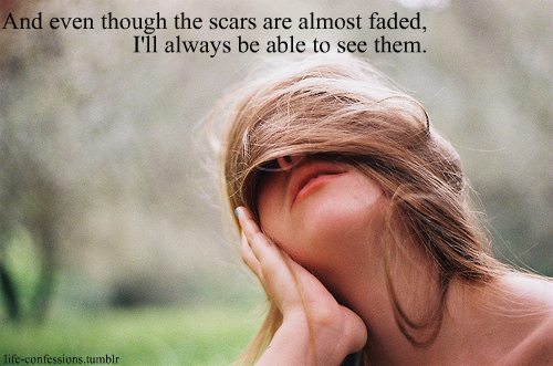 depressing, hurt, life, sad, scars