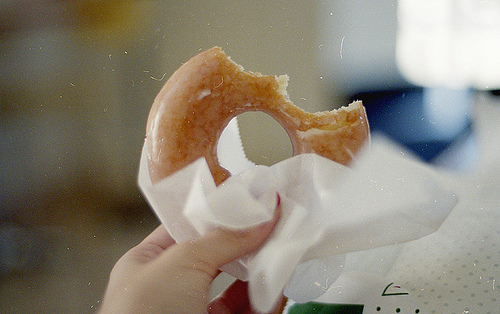 donut, film, food, photography