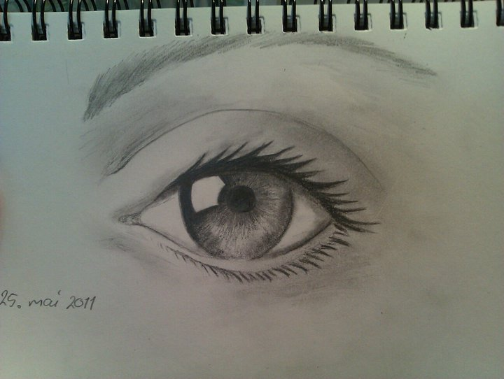drawing, eye, lashes, mascara, paper