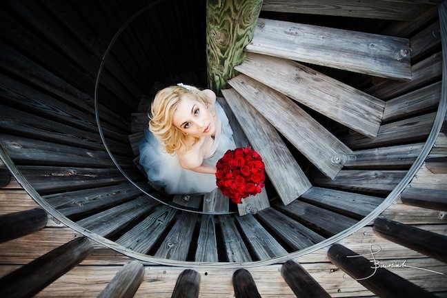 dress, flowers, photography, stairs, steps