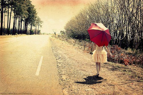 dress, girl, photography, red, umbrella - image #255989 on ...