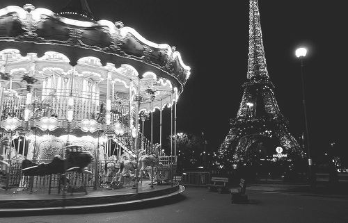 eifel tower, france, merry-go-round, paris