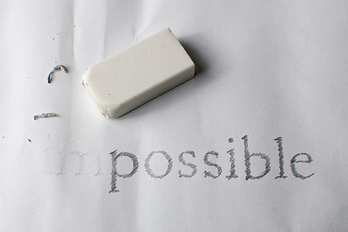 erase, eraser, impossible, possible, word