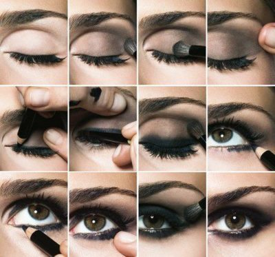 eye makeup, instruction, pretty