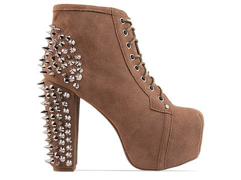 fashion, jeffrey campbell, lita, shoes, spike, style, suede, taupe
