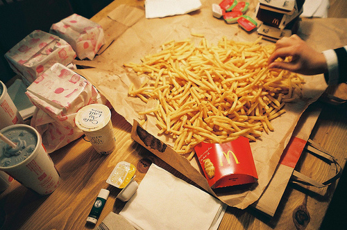 fast food, food, french fries, hungry, yummy