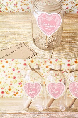 floral, heart, jar, love letters, pastel, secret letters