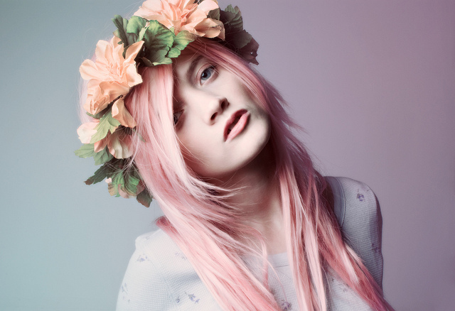 flowers, girl, headdress, hipster, indie