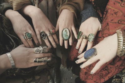 friends, hands, jewelery, pretty, rings