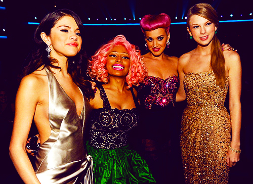 katy perry, nicki minaj, selena gomez, taylor swift